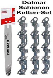 """Dolmar Set 1 Schwert 30cm 3//8/"""" 1,3 Nut ES PS Kettensäge 3 Sägekette 46 Treibgl"""