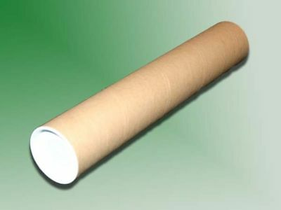 10 - 2 X 12 Cardboard Mailing Shipping Tubes W End Caps