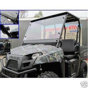 2014-Polaris-Ranger-570-UTV-Full-Windshield-with-Quick-Connect-Clamps