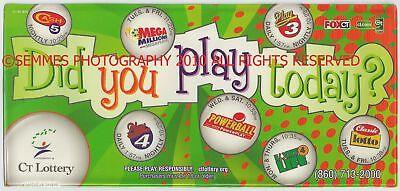 Connecticut Lotto Holder Play3/4/ Cash5 /lotto/powerball/mega Millions Key Chain
