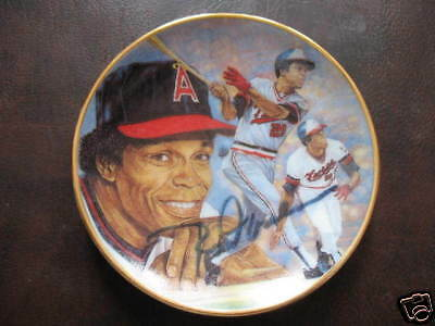 ROD CAREW  AUTOGRAPHED REMARKED GARTLAN MINI PLATE