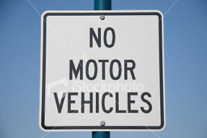 Real 24 No Motor Vehicles Road Street Traffic Sign