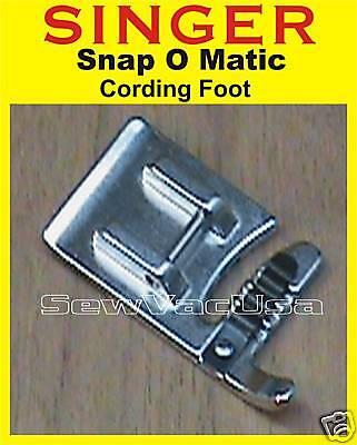 Singer Cording Foot Fits Futura Quartet Xl-400 Fq4 Seqs-6000 L-500 Ses 1000 2000