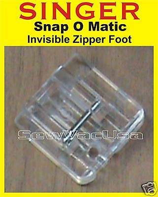 Invisible Zipper Foot Fits Singer Simple 2663, 3116, 3221, 3223, 3232, 3229 3337