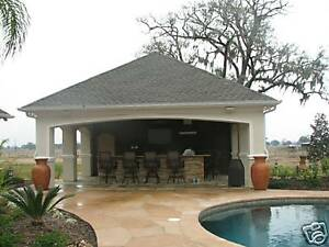 image is loading detail pool house plans complete - Pool House Plans