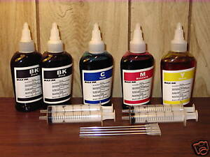 Bulk refill ink for HP inkjet printer 4 colors
