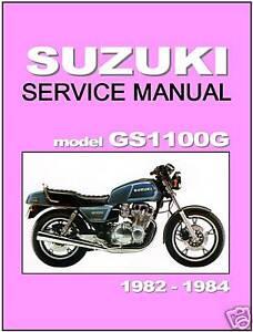 suzuki workshop manual gs1100g gs1100gk gs1100gl gs1100 shaft 1982 rh ebay com 1983 Suzuki GS 750 E Exhaust Suzuki GS1100E Specs
