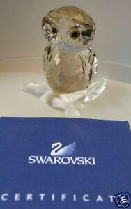 SWAROVSKI-SILVER-CRYSTAL-OWL-NEW-3-4-2009-1003326-MIB
