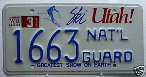 USA-Nummernschild-Utah-National-Guard-Selten-667