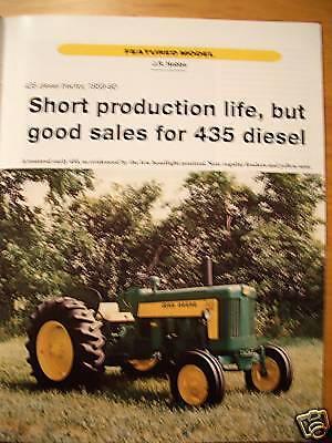 JOHN DEERE Model 435 Diesel Tractor June 2000 GREEN magazine - Lanz 3010