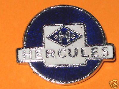 Hercules Lapel Pin Chrome Hat Badge Vintage Motorcycle