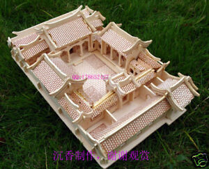 Image Is Loading 3d Woodcraft Puzzle Kit Chinese House Courtyrard Model