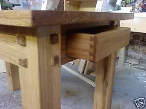 Image Is Loading Bespoke Handmade Oak Dining Kitchen Table