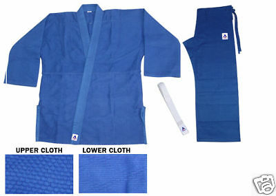 BLUE JUDO JUJITSU SUIT SINGLE WEAVE UNIFORM 450 GI 4
