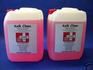 2-X-10-Liter-Kan-SHB-Swiss-Kalk-Clean-Entkalker-fuer-alle-Modele-geeignet-Saeco
