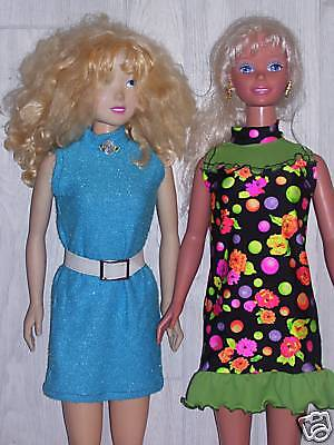 "NG Creations Sewing Pattern #2 Turtleneck Dress fits 36"" My Size Barbie Doll"
