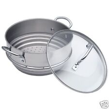 calphalon stainless steel steamers cookware with lid