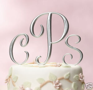 Silver-or-Gold-Cake-Top-Monograms-Choose-Letters-Size