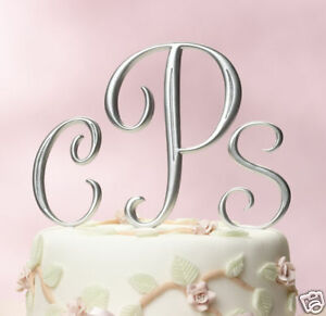 Silver-or-Gold-Cake-Top-Monograms-Choose-Letters-amp-Size