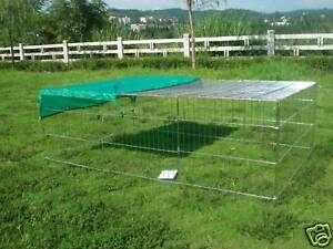 72-Dog-Duck-Chicken-Ferret-Rabbit-Run-Pen-Playpen-Rust-Free-Enclosure-Sunshield