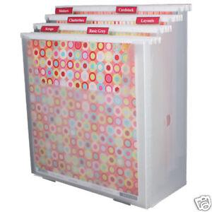 get 3 for 55 scrapbooking vertical 12x12 paper organizer ebay. Black Bedroom Furniture Sets. Home Design Ideas