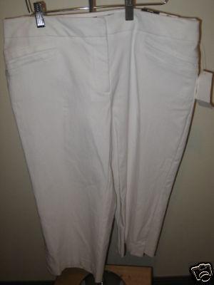 Studio 1940 Misses White Crop Pants 10