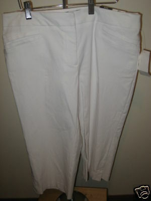 Studio 1940 Misses White Crop Pants 10
