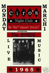 The-Byrds-Ciros-Club-Los-Angeles-Concert-Poster-1965