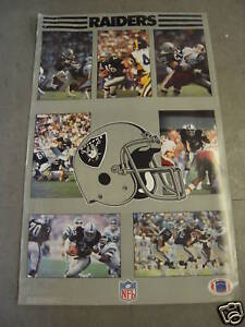Raiders 1986 Team Poster (Not Laminated)