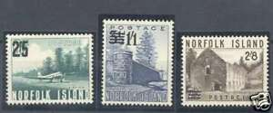 Norfolk-Island-Stamps-Yvert-45-7-MNH-Very-Nice-Lot