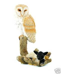 Country Artists Barn Owl with Lamb Figurine NEW 11903