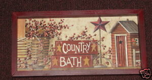 PRIMITIVE-COUNTRY-BATH-AND-BERRIES-FRAMED-WALL-DECOR