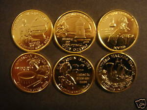 Details about 2009 complete set of 24kt gold plated state quarters