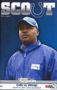 Minnesota-Vikings-Indianapolis-Colts-Scout-Program-8-14-2009-Jim-Caldwell