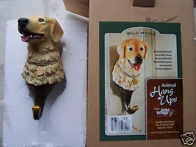 New Wild Wings Golden Retriever Dog Wall Hook Hanger Hangup New in Box ()