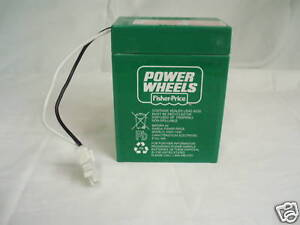 NEW-Power-Wheels-00801-1234-GREEN-BATTERY-6volt-6v-Genuine-Fisher-Price