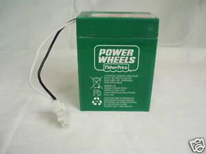 NEW-Power-Wheels-00801-1234-GREEN-BATTERY-6volt-6v-Genuine-Fisher-Price