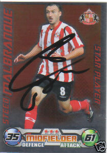 STEED MALBRANQUE SIGNED S'LAND 08/09 MATCH ATTAX CARD G