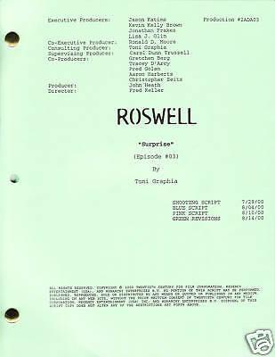 "ROSWELL show script ""Surprise"""