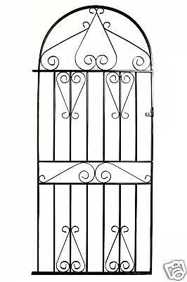 Metal Arched Scroll Tall Gate to fit 3ft(915mm) opening x 6ft2(1880mm) high MBT3