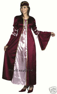 Medieval-Renaissance-Princess-Fancy-Dress-Costume-Adult-AC386