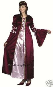 Medieval-Renaissance-Princess-Fancy-Dress-Costume-Adult-AC386