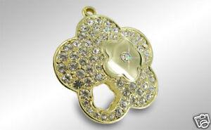 Fashion-Jewelry-Keychain-Key-Chain-Ring-Crystal-Flower