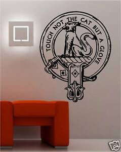 Your Personalised Scottish Clan Crest Wall Art Sticker Ebay
