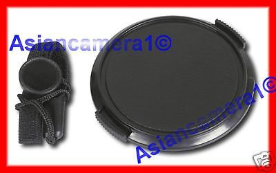 Front Lens Cap For Olympus E10 E20 E20n + Keeper Holder Snap-on Dust Safety Cap