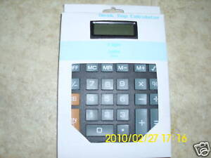 DESK TOP CALCULATOR DIRT CHEAP NEW IN RETAIL BOX LESS$6