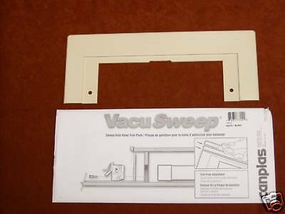 VacuSweep Trim plate for Central Vacuum Ivory