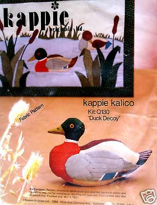 Q130 Vintage Kappie Kalico duck Decoy Duck Doll Kit