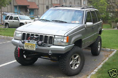 Custom Winch Bumper For Jeep Grand Cherokee Zj 1993-1998 Free Shipping