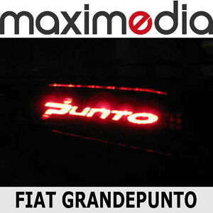 sticker x terzo stop fiat grandepunto grande punto ebay. Black Bedroom Furniture Sets. Home Design Ideas